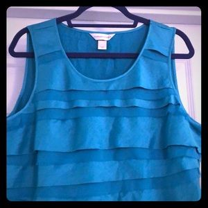 "Teal Christopher & Banks ""Dressy"" Tank"